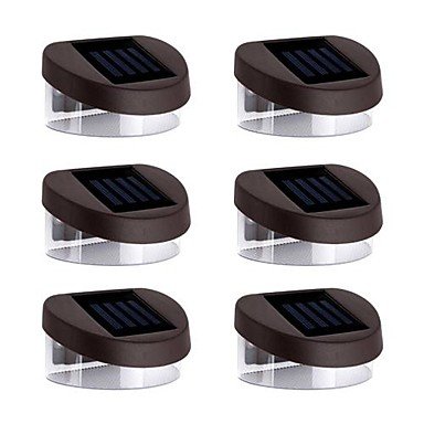 6pcs LED Solar Lights Night Light Solar Rechargeable Waterproof