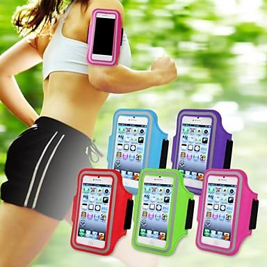Capinha Para iPhone 5 Universal com Visor Braçadeira Faixa de Braço Côr Sólida Macia Têxtil para iPhone SE/5s