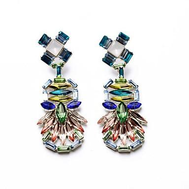 Damla Küpeler Kristal Reçine Yapay Elmas alaşım Mücevher Için Düğün Parti Günlük