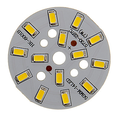 7w 600-650lm lumină albă caldă 5730smd modul integrat led (21-24v)