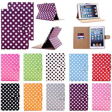 Elonbo Lovely Wave Point Mat LinesCase with Card Slot,Stand  for iPad mini 2(Assorted Colors)