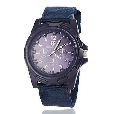 זול שעוני גברים-בגדי ריקוד גברים שעונים צבאיים שעון יד שעון תעופה קווארץ שחור / כחול / ירוק שעונים יום יומיים אנלוגי קסם קלסי - שחור ירוק נייבי שנה אחת חיי סוללה / Jinli 377
