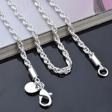 Kadın's Zincir Kolyeler - 20, 22, 24 Kolyeler Mücevher Uyumluluk Günlük