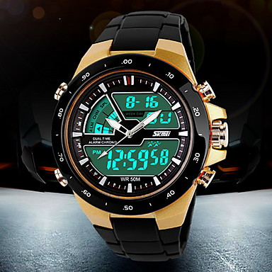 SKMEI Men's Quartz Digital Japanese Quartz Digital Watch Wrist Watch Sport Watch Alarm Calendar / date / day Chronograph Water Resistant
