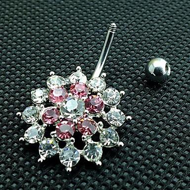 Kristal Göbek Halkası / Göbek Piercing - Kristal, Simüle Elmas Lüks Kadın's Vücut Mücevheri Uyumluluk Yılbaşı Hediyeleri / Günlük