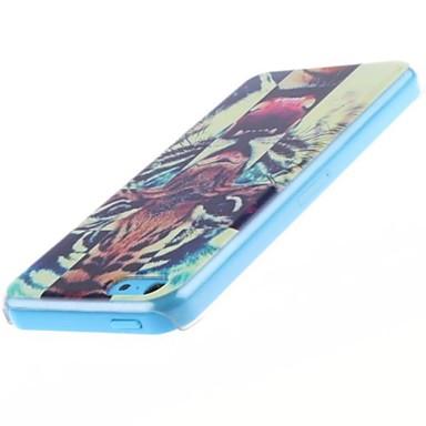 IPhone 5C için kükreyen Tiger Desen PC Hard Case