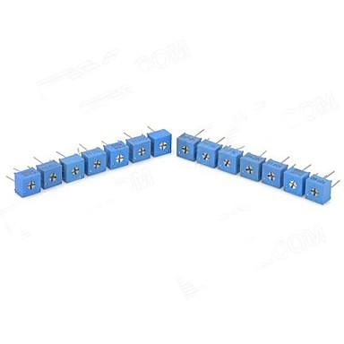 3362P Потенциометр настройки сопротивления - синий + серебро (14 шт)