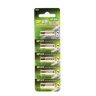 12v høj kapacitet alkaline batterier 23a-l5 (5-pack)