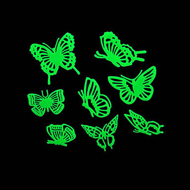 romantik ev absorpsiyometrik gece ışıklar çıkartmalar-kelebek