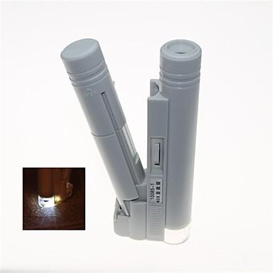 Taşınabilir led ışıklı 40x binoküler mikroskop (2 x aa)