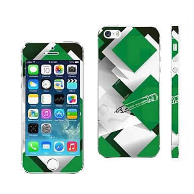 AIKUSU ® iPhone 5/5S KSCT0013 için Karışık Renkli Tasarım Cep Telefonu Cilt Kapak