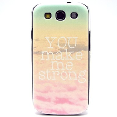 Samsung Galaxy S3 i9300 için Word, Desen Sert Plastik Kılıfları ile Bulutlar
