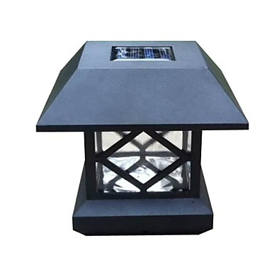 alb PAC post solar punte de lumină gard montare lampă gard grădină în aer liber