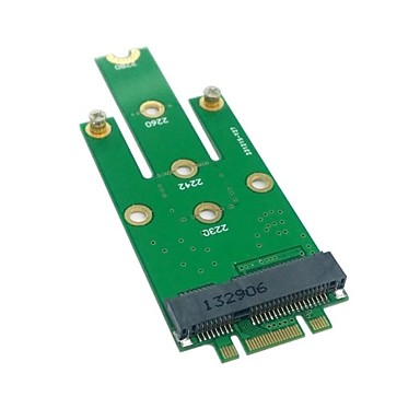 50mm mini PCIe mSATA (18 + 8) ssd sabit disk pcba 0.05m 0.15ft için m.2 ngff pci-e 2 şeritli altın parmak pimi