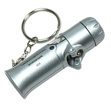 2-LED Beyaz Işık ile Mini Portatif Katlanır Döviz Algılama 60X Mikroskop