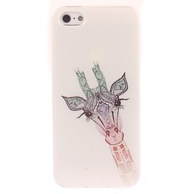 iphone 4 / 4s için güzel zürafa tasarım yumuşak kılıf