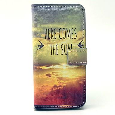 Için Samsung Galaxy Kılıf Kılıflar Kapaklar Cüzdan Kart Tutucu Satandlı Flip Temalı Tam Kaplama Pouzdro Manzara PU Deri için SamsungS4
