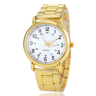 Kadın's Gündelik Saatler Quartz Paslanmaz Çelik Bant Vintage Altın Rengi