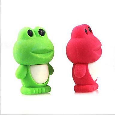 sevimli sökülebilir kurbağa şeklinde silgi (rastgele renk x 2 adet)
