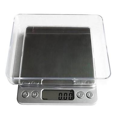 dijital lcd elektronik mutfak kilo gıda ölçekli balance1000g / 0.1g, plastik 12.7x10.6x1.9cm