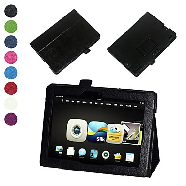 Elonbo Litchi Grain Protective PU Leather Fild Stand Case for Kindle Fire HDX 8.9 Inch Tablet(Assorted Colors)