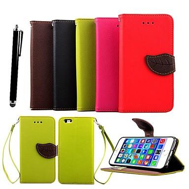 Pouzdro Uyumluluk iPhone X iPhone 8 Plus iPhone 6 iPhone 6 Plus Kart Tutucu Satandlı Tam Kaplama Tek Renk Sert PU Deri için iPhone X