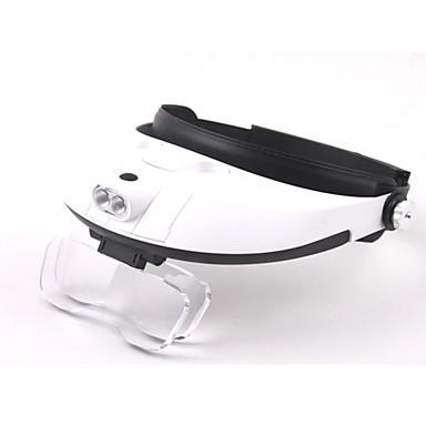 lentile multiple cu două sensuri reglementare cap purta-lupa cu 2-a condus de lumină (3 x AAA)