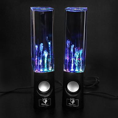 PC Laptop MP3 Telefonlar İçin USB LED Işıklı Hi-Fi Stereo Hoparlör (Siyah)