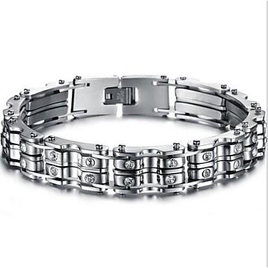 voordelige Heren Armband-Heren Dames Gepersonaliseerde Modieus Initial Roestvast staal Armband sieraden Zilver Voor Kerstcadeaus Dagelijks / Titanium Staal