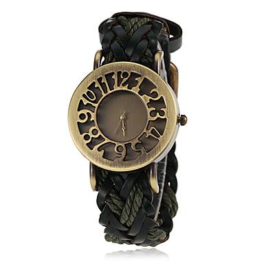 Pentru femei Quartz Ceas de Mână cald Vânzare PU Bandă Vintage Negru Albastru Roșu Orange Maro Verde