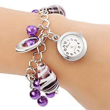 Kadın's Bilezik Saat Moda Saat Quartz Alaşım Bant İnci Mor