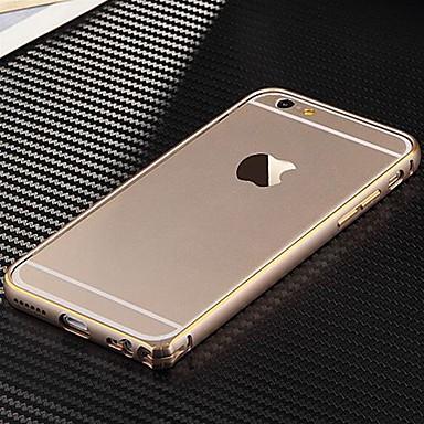 Için iPhone 6 Kılıf / iPhone 6 Plus Kılıf Ultra İnce Pouzdro Tampon Pouzdro Solid Renkli Sert Metal iPhone 6s Plus/6 Plus / iPhone 6s/6