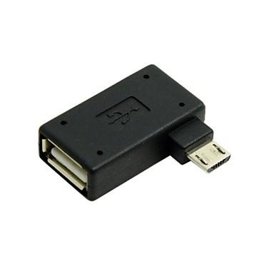 90 de grade unghi drept micro USB 2.0 OTG adaptor gazdă, cu alimentare USB pentru Galaxy S3 / S4 / Nota 2 transport gratuit