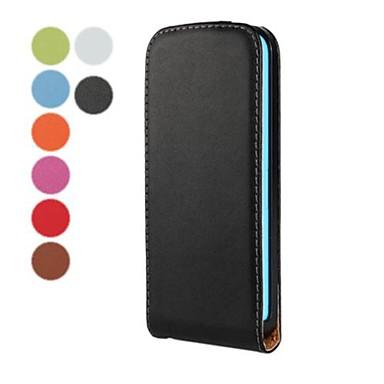 düz renk açmak ve iphone 5c için pu deri tam vücut halinde aşağı (çeşitli renk)