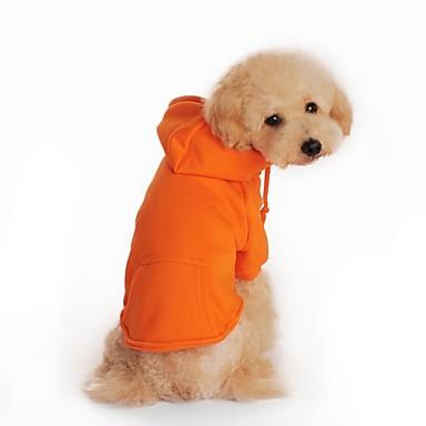 Câine Hanorace cu Glugă Îmbrăcăminte Câini Mată Portocaliu Gri Rosu Bumbac Costume Pentru Iarnă