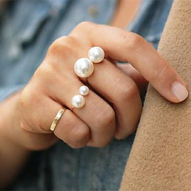Shixin® Classic Double Pearl Band Ring(1 Pc)Random Size