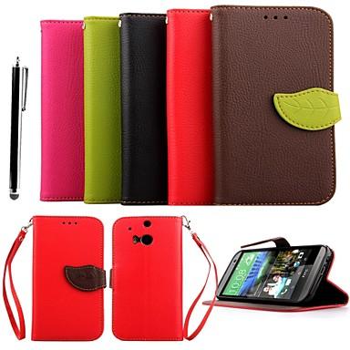 karzea ™ frunze amestecat culori TPU piele corp plin cu suport și stylus pentru un HTC (M8) (culori asortate)