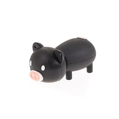 zp negru desen animat de porc unitate flash USB de 32 GB caracter