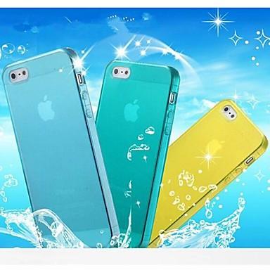 Για Θήκη iPhone 5 Διαφανής tok Πίσω Κάλυμμα tok Μονόχρωμη Μαλακή TPU iPhone SE/5s/5