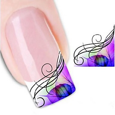 1 Water Transfer Sticker 3D Nail Stickers Abstract Fashion Punk Daily High Quality
