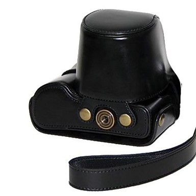 pajiatu pu câmara em couro protetora saco caso cubra com alça de ombro para GX7 dmc-GX7