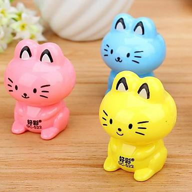 γάτα σχήμα εγχειρίδιο ξύστρα (τυχαία χρώμα)
