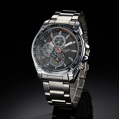 Men's Wrist Watch Alloy Band Silver