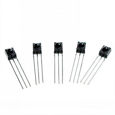 diy 3-pin δέκτη υπερύθρων ir - μαύρο (5pcs)