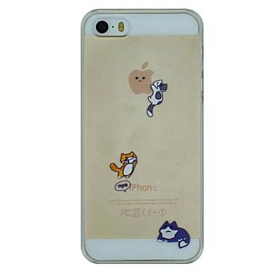 drie ondeugende katten patroon pc harde transparante hoesje voor iPhone 5 / 5s