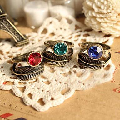 Γυναικεία Band Ring Κόκκινο Πράσινο Μπλε Κράμα Καθημερινά Κοστούμια Κοσμήματα