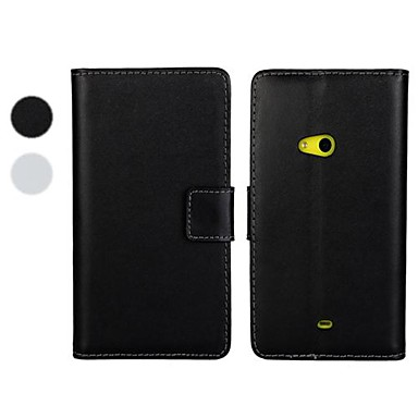 Için Nokia Kılıf Cüzdan / Kart Tutucu / Satandlı Pouzdro Tam Kaplama Pouzdro Solid Renkli Sert PU Deri Nokia Nokia Lumia 625