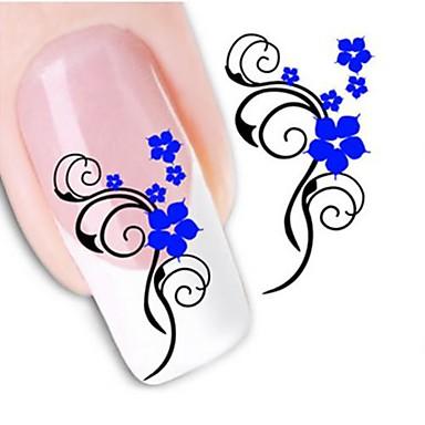 1 Sanat Sticker Nail Su Transfer Etiketi Çiçek Düğün Makyaj Kozmetik Sanat Tasarım Nail
