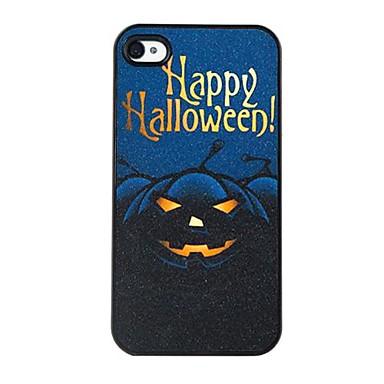 iphone4 / 4s için siyah cadılar bayramı balkabağı model plastik zor durumda