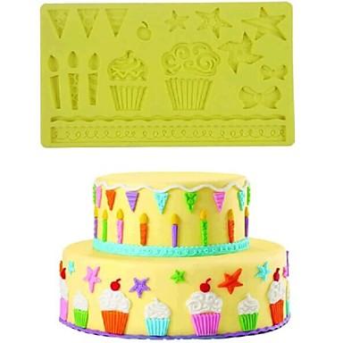 dantel yıldız ilmek pişirme fondan kek çikolata şeker kalıbı, l19.8m * w12.6cm * h0.75cm